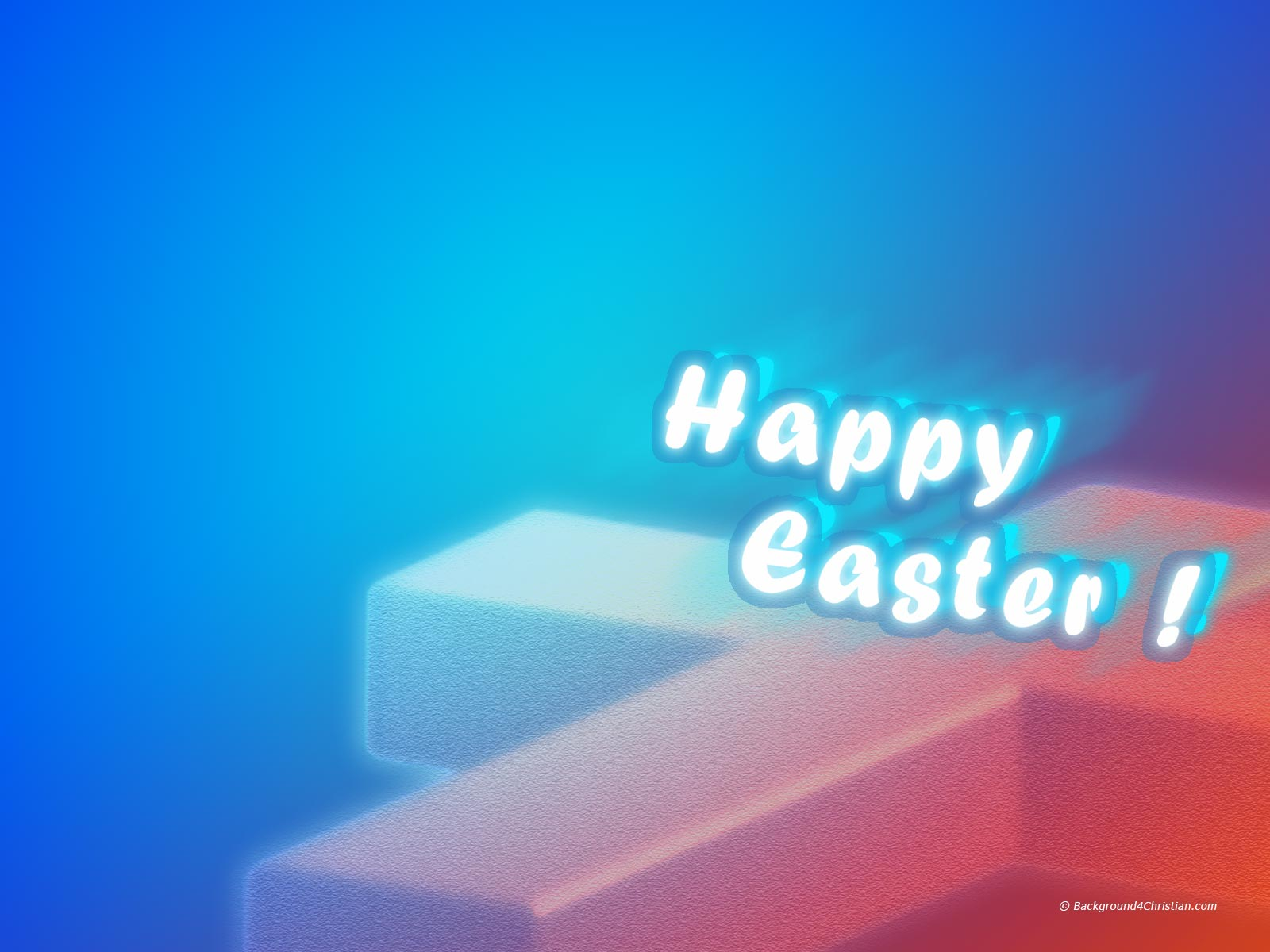 Happy Easter Cross Background 4 Christian