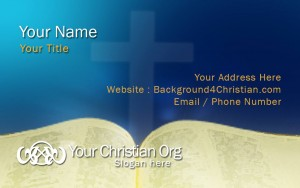 christian namecard template